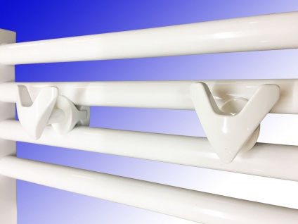 Handtuchhalter für Badheizkörper VIP Chrom oder Weiß 2 Stück - Vorschau 1