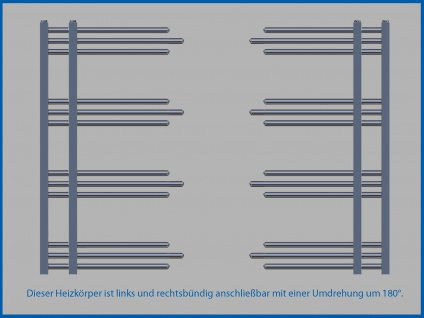 Designbadheizkörper NERISSA Chrom oder Weiß alle Maßen - Vorschau 5