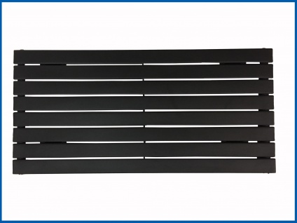 Paneel Heizkörper Badheizkörper ARYA Horizontal Schwarz Breite: 1000 mm. Höhe: 604 mm.