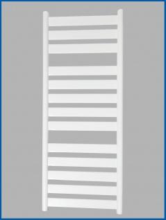 Badheizkörper VERSUS 1300 x 500 mm. Weiß Designbadheizkörper inkl. Ventile