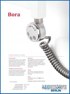 Elektro Badheizkörper MORA 1022 x 600 mm. Weiß rein elektrisch Handtuchwärmer - Vorschau 3