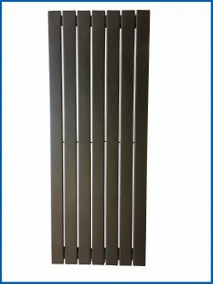 Paneel Heizkörper Badheizkörper ARYA Vertikal Schwarz Breite: 528 mm. Höhe: 1200 mm.