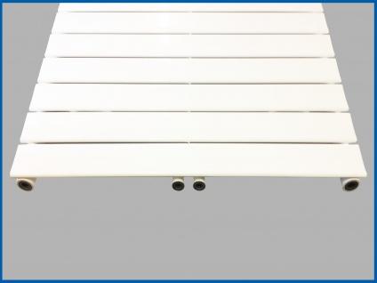 Paneel Heizkörper Badheizkörper ARYA Horizontal Weiß Breite: 1200 mm. Höhe: 604 mm. - Vorschau 2