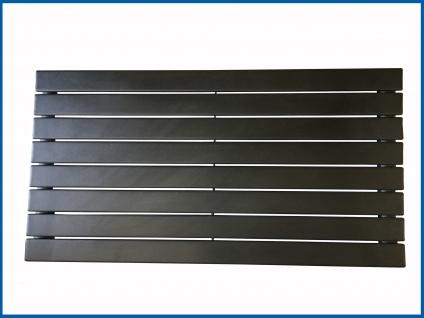 Paneel Heizkörper Badheizkörper ARYA Horizontal Schwarz Breite: 1200 mm. Höhe: 604 mm.
