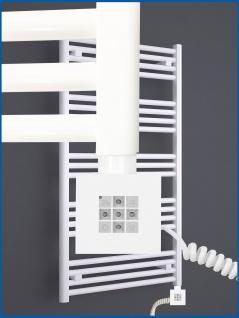 Elektro Handtuchwärmer MORA 578 x 500 mm. Weiß rein elektrisch mit KTX2