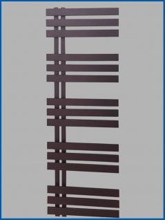 Designbadheizkörper VERONA Schwarz Anthrazit 1200 x 600 mm. Handtuchwärmer