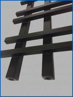 Design Badheizkörper VENTO Schwarz Anthrazit 1200 x 550 mm. - Vorschau 3