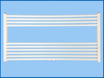 Badheizkörper SMYRNA Plus Weiß 1200 x 800 mm. Gerade mit Mittelanschluss SONDERMAß