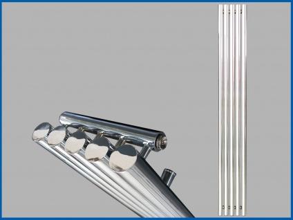 Design Badheizkörper IMPERIUM Hochglanz Chrom 1300 x 260 mm.