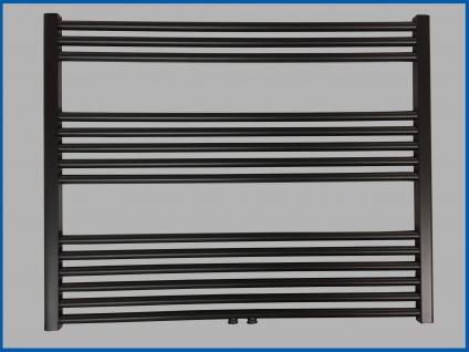 Badheizkörper SMYRNA Plus Schwarz 1000 x 800 mm. mit Mittelanschluss SONDERMAß