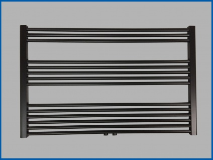 Badheizkörper SMYRNA Plus Schwarz 1200 x 800 mm. mit Mittelanschluss SONDERMAß