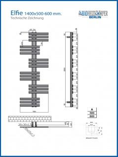 Designbadheizkörper ELFIE Schwarz Anthrazit alle Maßen Handtuchwärmer - Vorschau 4