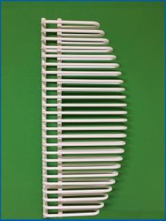 Design Badheizkörper BONITA Weiß 1400 x 600 mm. Badheizkörper mit Ventile - Vorschau 4