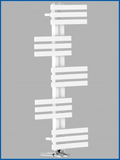 Design Badheizkörper ELFIE Weiß 1400 x 600 mm. Handtuchwärmer