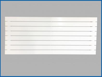 Paneel Heizkörper Badheizkörper ARYA Horizontal Weiß Breite: 1200 mm. Höhe: 604 mm. - Vorschau 1