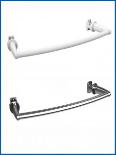 BASIC Handtuchstange für Badheizkörper Gebogen Chrom oder Weiß - Vorschau 1