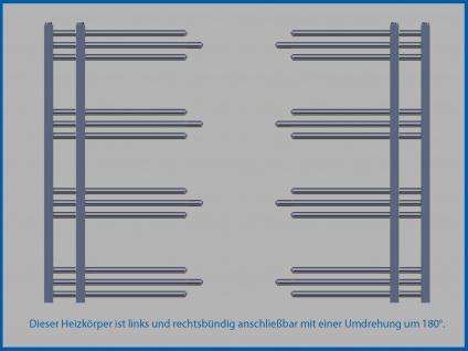 Designbadheizkörper NERISSA Weiß 1000 x 500 mm. - Vorschau 3