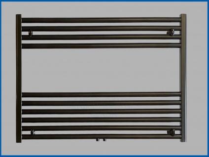 Badheizkörper SMYRNA Plus Schwarz 1000 x 600 mm. mit Mittelanschluss SONDERMAß