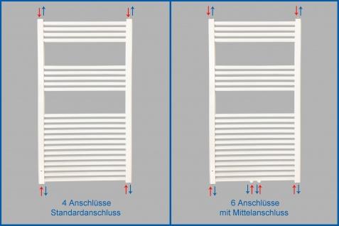 Badheizkörper SMYRNA Weiß 500 x 1000 mm. Gerade oder Gebogen - Vorschau 5