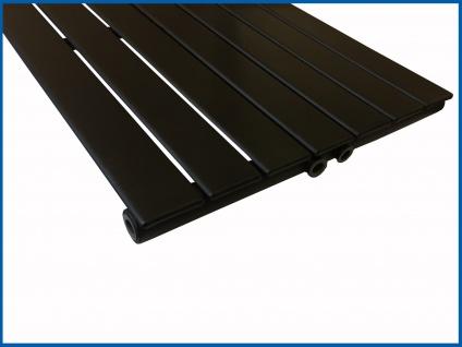 Paneel Heizkörper Badheizkörper ARYA Vertikal Schwarz Breite: 528 mm. Höhe: 1200 mm. - Vorschau 2