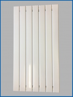 Paneel Heizkörper Badheizkörper ARYA Vertikal Weiß Breite: 528 mm. Höhe: 1000 mm.