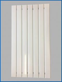 Paneel Heizkörper Badheizkörper ARYA Vertikal Weiß Breite: 528 mm. Höhe: 800 mm.