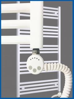 Elektro Badheizkörper MORA 837 x 500 mm. Weiß rein elektrisch Handtuchwärmer