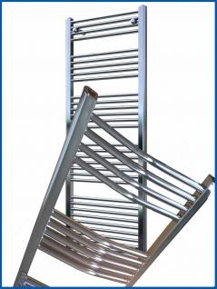 Badheizkörper LIDYA Hochglanz Chrom 800 x 600 mm. Gebogen Standardanschluss Handtuchwärmer