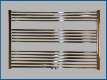 Badheizkörper LIDYA PLUS 600 x 1200 mm. Hochglanz Chrom Gerade mit Mittelanschluss Sondermaß