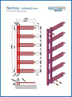 Designbadheizkörper NERISSA Chrom oder Weiß alle Maßen - Vorschau 4