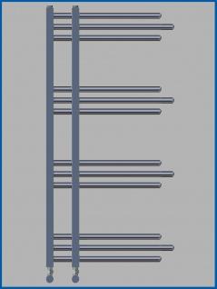 Designbadheizkörper NERISSA Chrom oder Weiß alle Maßen