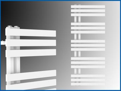 Designbadheizkörper VERONA Weiß 1400 x 600 mm. Handtuchwärmer