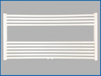 Badheizkörper SMYRNA PLUS Weiß Breite: 1000 mm. Höhe: 600 mm. Standardanschluss / mit Mittelanschlusss SONDERMAß - Vorschau 2