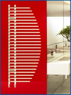 Design Badheizkörper BONITA Weiß 1400 x 600 mm. Badheizkörper mit Ventile - Vorschau 1
