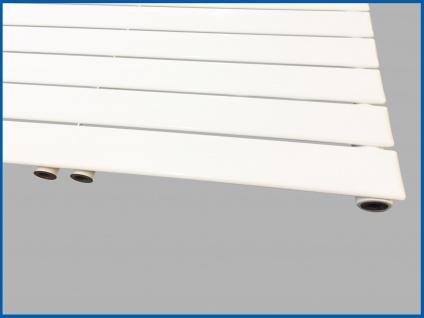 Paneel Heizkörper Badheizkörper ARYA Horizontal Weiß Breite: 1200 mm. Höhe: 604 mm. - Vorschau 3