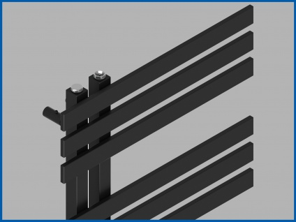 Design Badheizkörper VERONA Schwarz Anthrazit 1000 x 500 mm. Handtuchwärmer