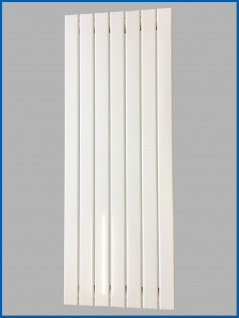 Paneel Heizkörper Badheizkörper ARYA Vertikal Weiß Breite: 528 mm. Höhe: 1200 mm.