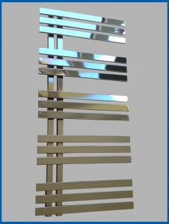 Designbadheizkörper VERONA Hochglanz Chrom 1000 x 500 mm. Handtuchwärmer - Vorschau 4