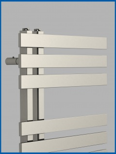 Designbadheizkörper VERONA Hochglanz Chrom 1000 x 500 mm. Handtuchwärmer - Vorschau 2