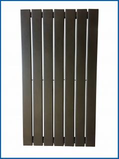 Paneel Heizkörper Badheizkörper ARYA Vertikal Schwarz Breite: 528 mm. Höhe: 800 mm.