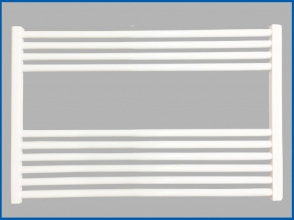 Badheizkörper SMYRNA Plus Weiß 1200 x 600 mm. Gerade Standardanschluss SONDERMAß