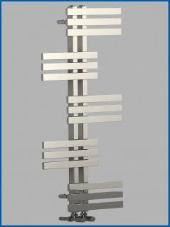 Design Badheizkörper ELFIE Hochglanz Chrom 1600 x 600 mm. Handtuchwärmer - Vorschau 2