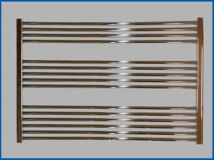 Badheizkörper LIDYA 600 x 1000 mm. Hochglanz Chrom Gerade Standardanschluss Sondermaß