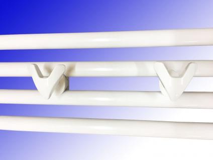 Handtuchhalter für Badheizkörper VIP Chrom oder Weiß 2 Stück - Vorschau 3