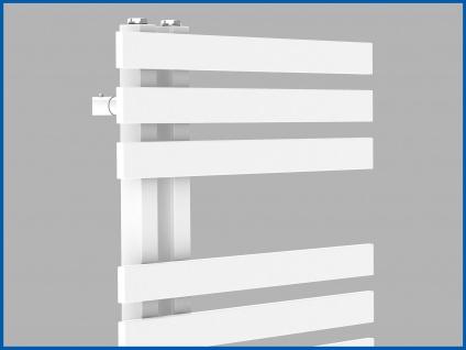 Design Badheizkörper VERONA Weiß 1200 x 500 mm. Handtuchwärmer - Vorschau 3