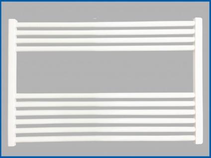 Badheizkörper SMYRNA Weiß Plus 800 x 600 mm. Gerade Standardanschluss SONDERMAß