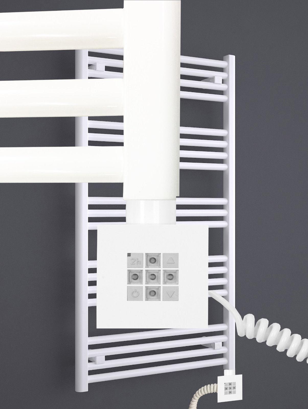 Elektro Badheizkörper MORA 1207 x 500 mm. Weiß rein elektrisch mit ...