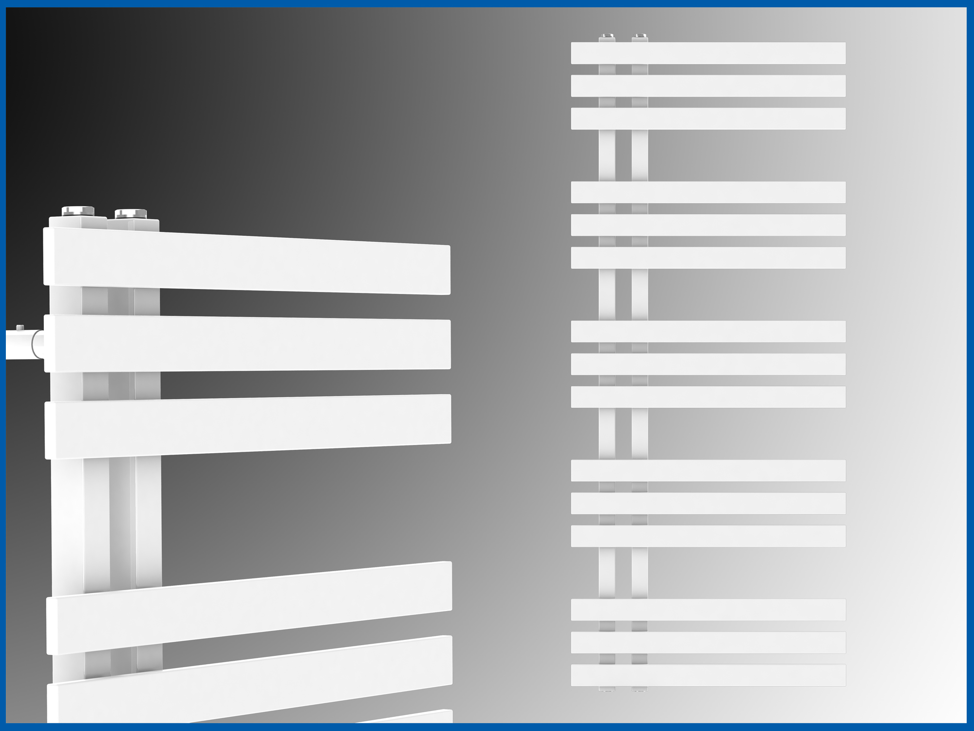 Design Badheizkörper VERONA Weiß 1600 x 500 mm. Handtuchwärmer