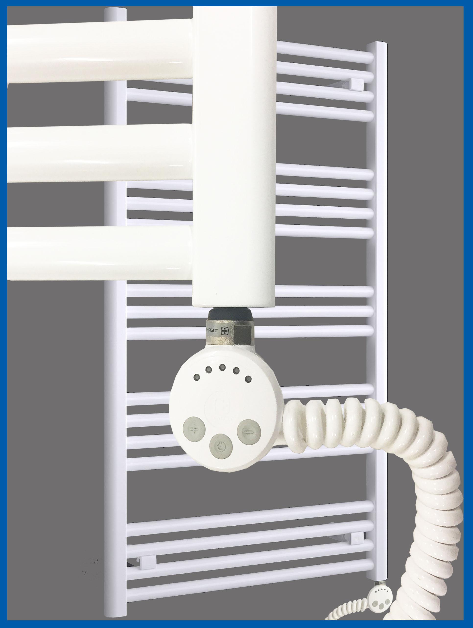 Elektro Badheizkörper MORA 1207 x 600 mm. Weiß rein elektrisch  Handtuchwärmer