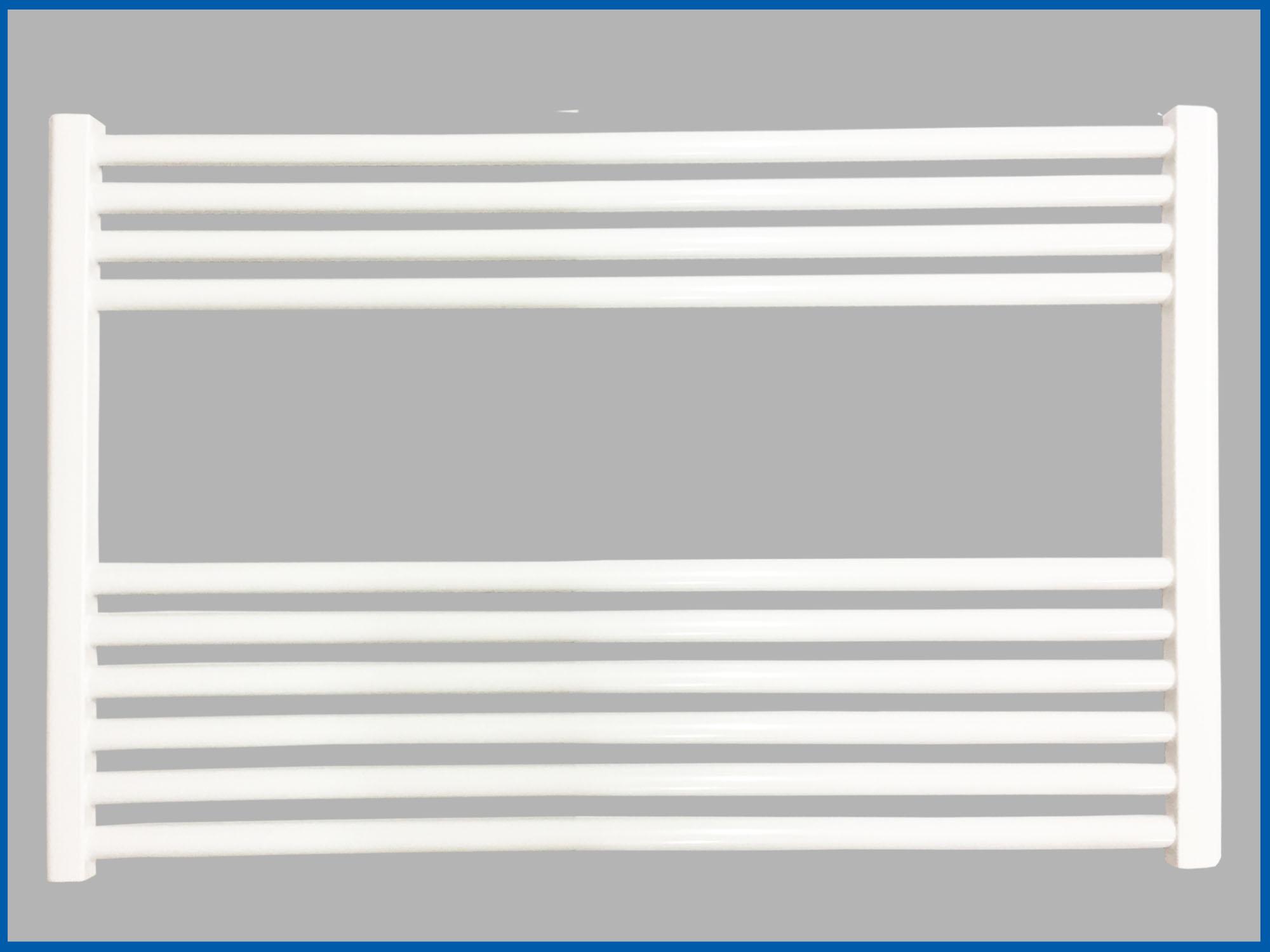 Gerade mit Mittelanschluss Handtuchw/ärmer 600 mm Badheizk/örper SMYRNA Wei/ß Breite 600 mm H/öhe
